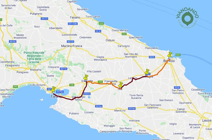 Viandando lungo l'antico tratto pugliese dell'Appia