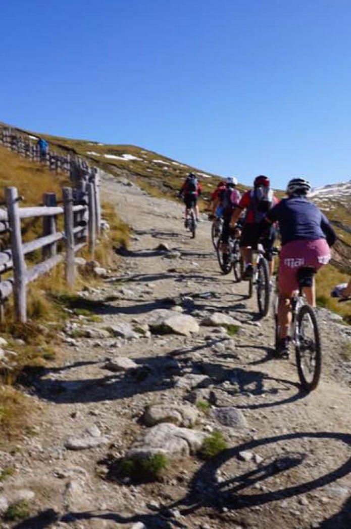 In bici in montagna